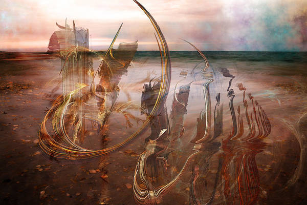 Seaside Digital Art - Music By The Sea by Betsy Knapp