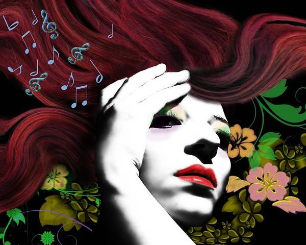 Wall Art - Digital Art - Music Muse by Diana Shively