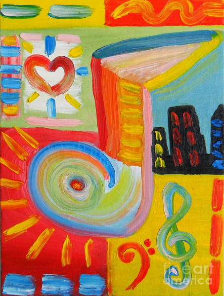 Pescoran Wall Art - Painting - Music My Way  by John Pescoran