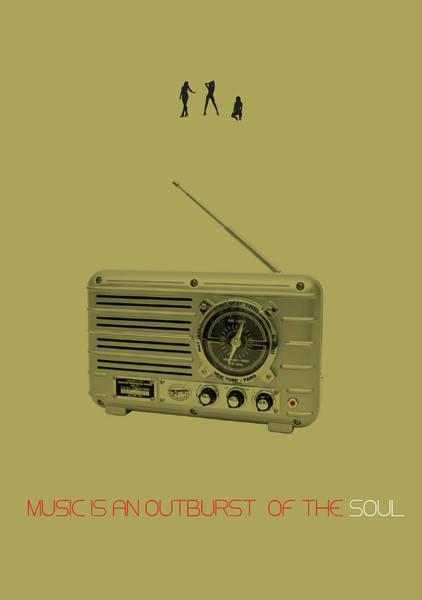 Wall Art - Digital Art - Music Of Soul Poster by Naxart Studio