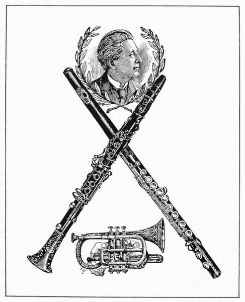 Conn Wall Art - Photograph - Musical Instruments Ad by Granger