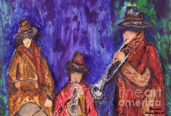 Painting - Musicians by Shelley Jones