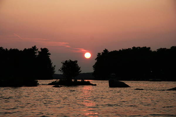 Muskoka Sunset Art Print by Carolyn Reinhart