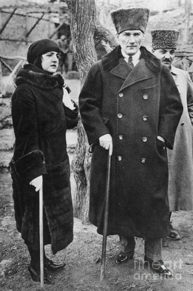 Photograph - Mustafa Kemal Ataturk by Granger