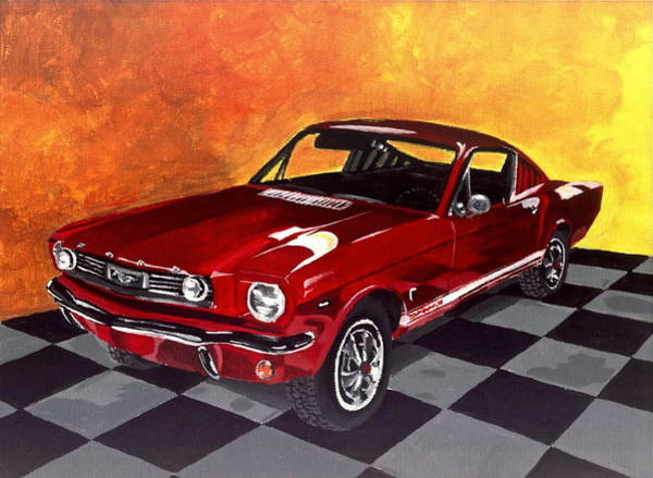 Coolidge Painting - Mustang by Sara Coolidge