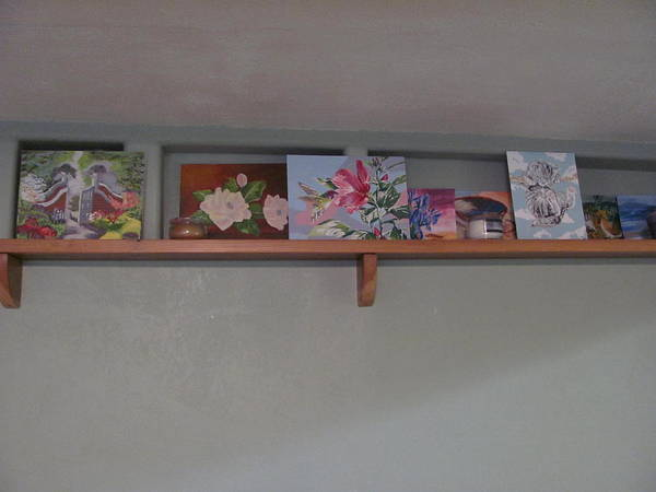 Shelves Mixed Media - My Art Display by Amy Bradley