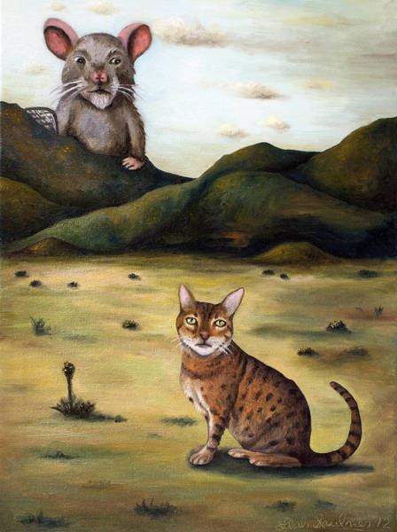 Painting - My Cats Worst Nightmare by Leah Saulnier The Painting Maniac