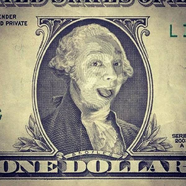 Cartoon Wall Art - Photograph - My Face On The Dollar Bill. #money by Joey Broyles