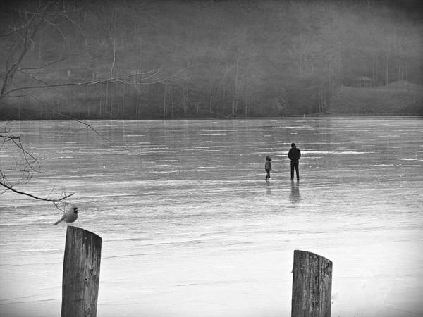 Photograph - My First Walk On Water Bw by David Dehner