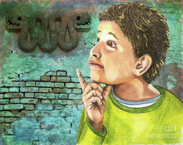 Wall Art - Digital Art - My Grandfather Was Mayan by Laura Brightwood