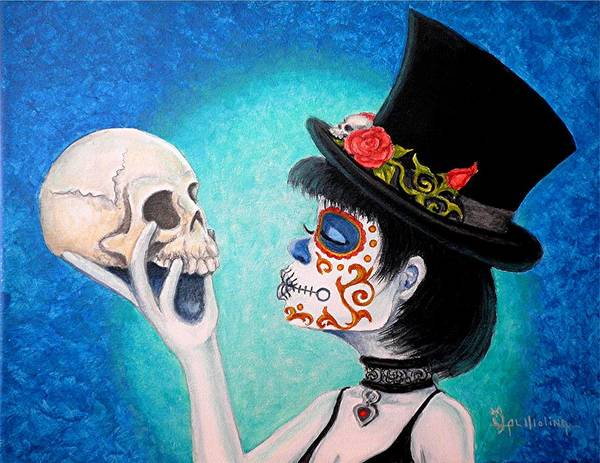 Wall Art - Painting - My Lil Bella Muerte by Al  Molina