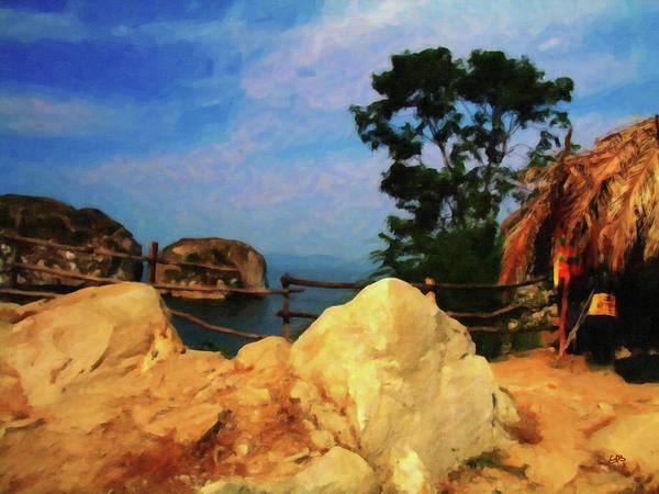 Digital Art - My Little Grass Shack - Baja Mexico  by Gary Baird