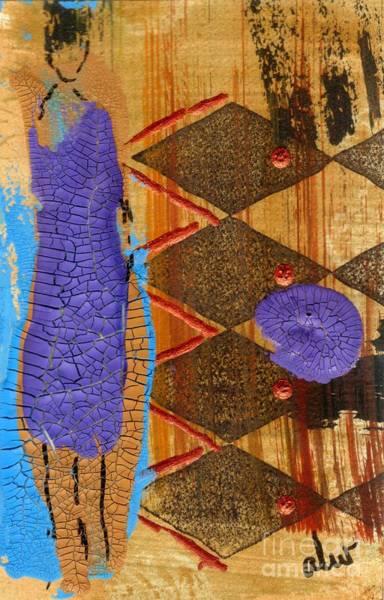Wall Art - Mixed Media - My New Purple Dress by Angela L Walker