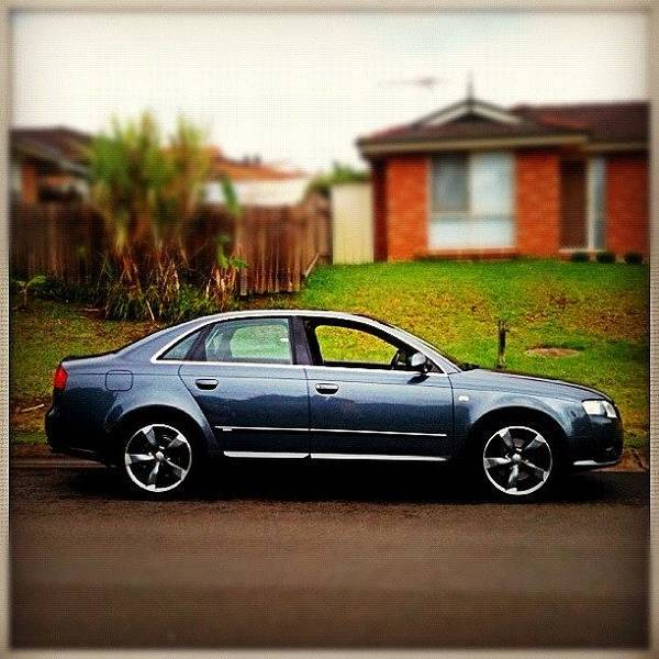 Audi Photograph - My New Wheels On My A4. Ended Up by Luke Fuda