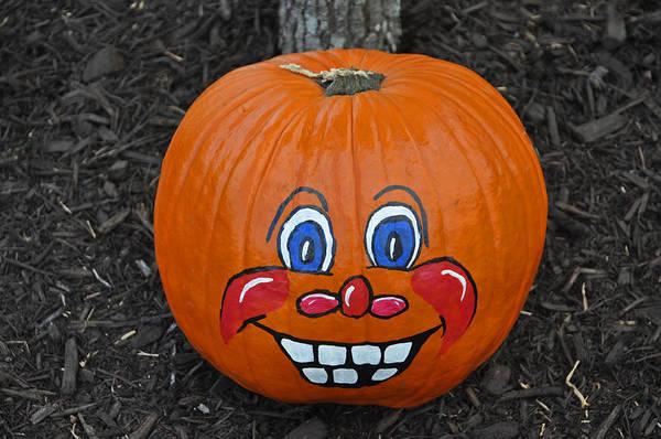 Photograph - My Painted Pumpkin 5 by Teresa Blanton