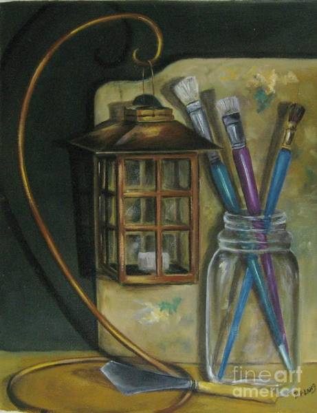 Wall Art - Painting - My Pallete by Patricia Lang