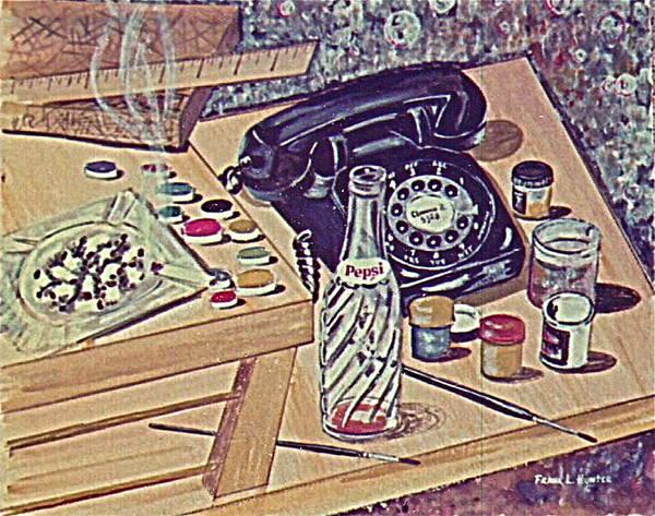 Painting - My Second Still Life Circa 60 by Frank Hunter