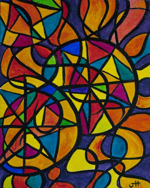 Inking Painting - My Three Suns by Jaime Haney