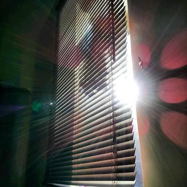 Follow Wall Art - Photograph - My #window In #morning #sunshine #sun by Abdelrahman Alawwad