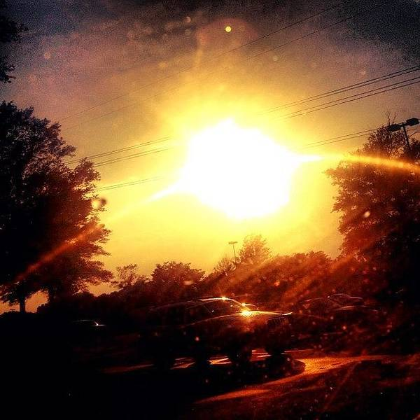 Sun Wall Art - Photograph - My Windshield Is So Dirty #cary #sky by Katie Williams