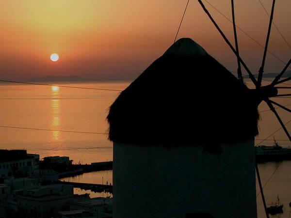 Photograph - Mykonos Island Sunset Greece by Colette V Hera  Guggenheim