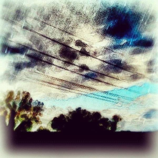 Abstract Skyline Wall Art - Photograph - mysky #sky #abstract #clouds by Carrie Mroczkowski