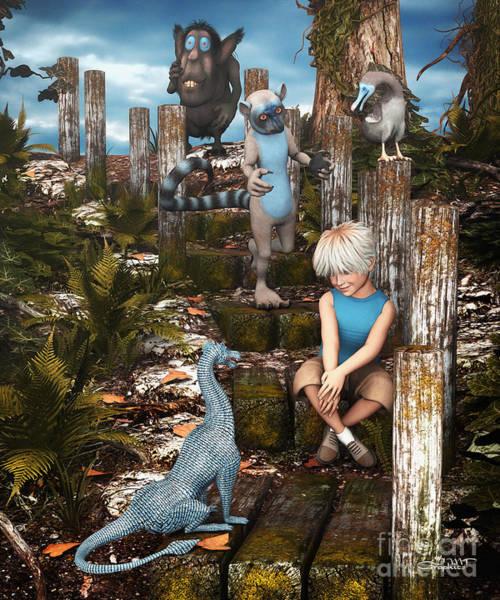 Digital Art - Mysterious Path by Jutta Maria Pusl