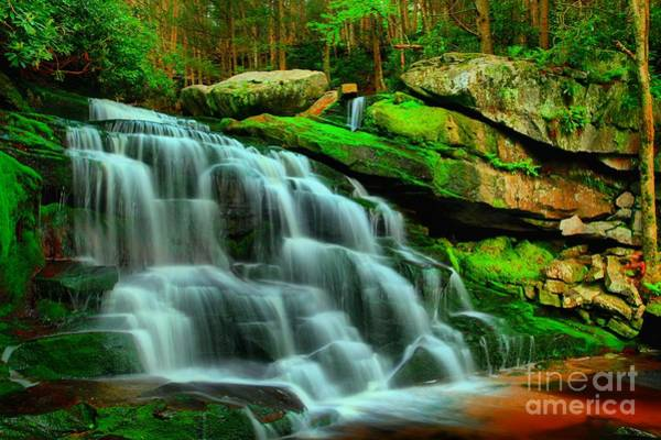 Photograph - Mystery Black Water Falls by Adam Jewell