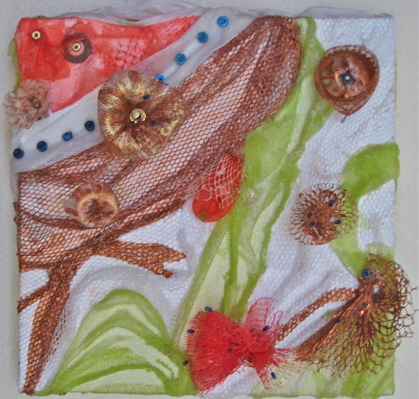 Recycling Painting - Mystical Garden by Ruth Edward Anderson