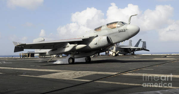 Prowler Photograph - N Ea-6b Prowler Makes An Arrested by Stocktrek Images