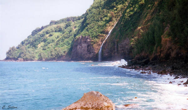 Photograph - Na Pali Coast Waterfall by C Sitton