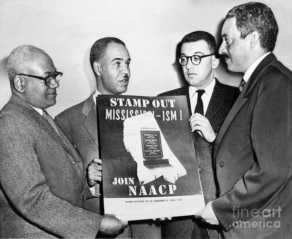 Photograph - Naacp Leaders, 1956 by Granger