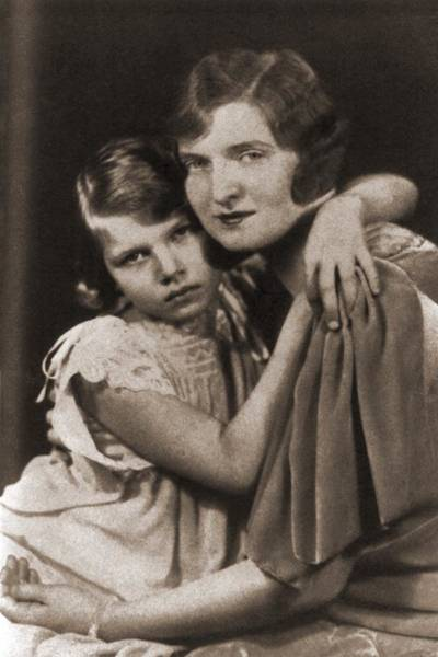 Mistress Photograph - Nan Britton 1896-1991 And Her Daughter by Everett