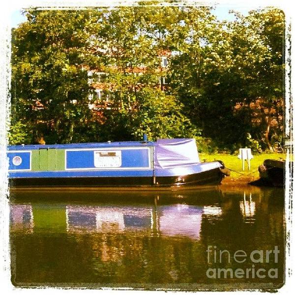 Transport Photograph - Narrowboat In Blue by Abbie Shores