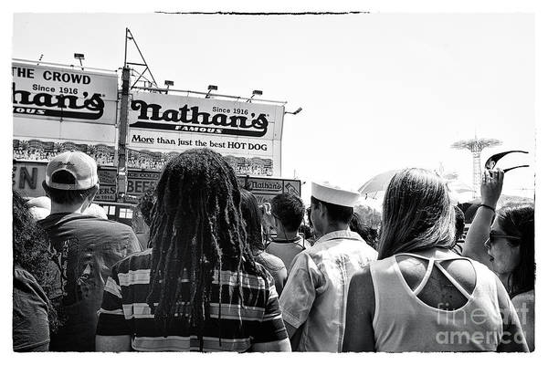 Nathan's Crowd In Coney Island 2 Art Print