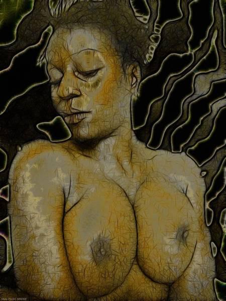Upper Body Painting - Nati Gaze Iv by Shan Peck