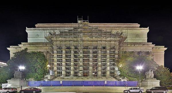 Photograph - National Archives Building Renovation by Metro DC Photography