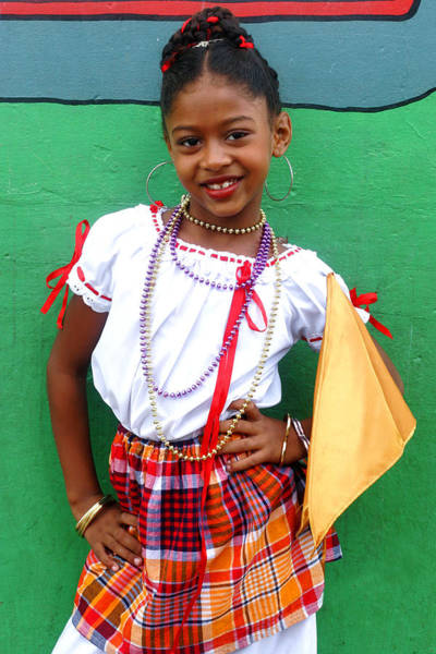 Wall Art - Photograph - National Costume- St Lucia by Chester Williams
