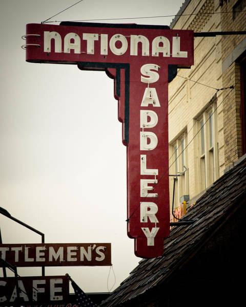 Stockyards Photograph - National Saddlery by David Waldo