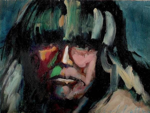 Painting - Native American by Les Leffingwell