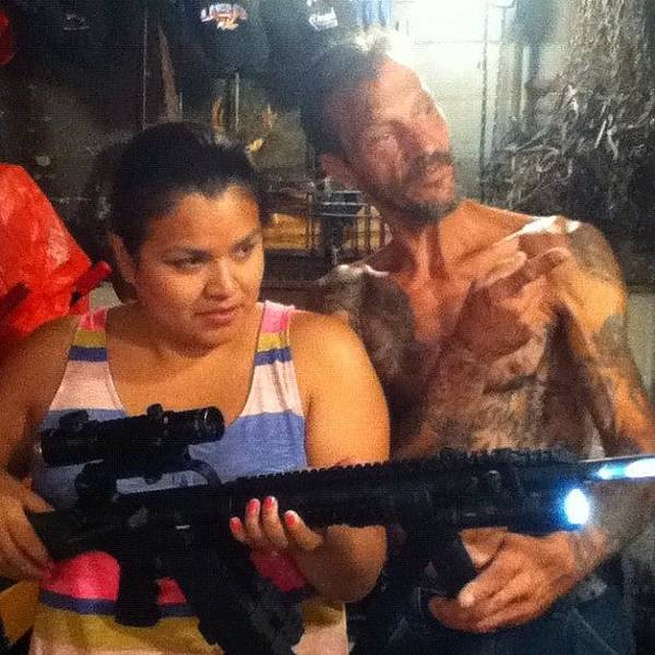 Guns Photograph - Native American Meets Gun Owner... My by Charles Dowdy