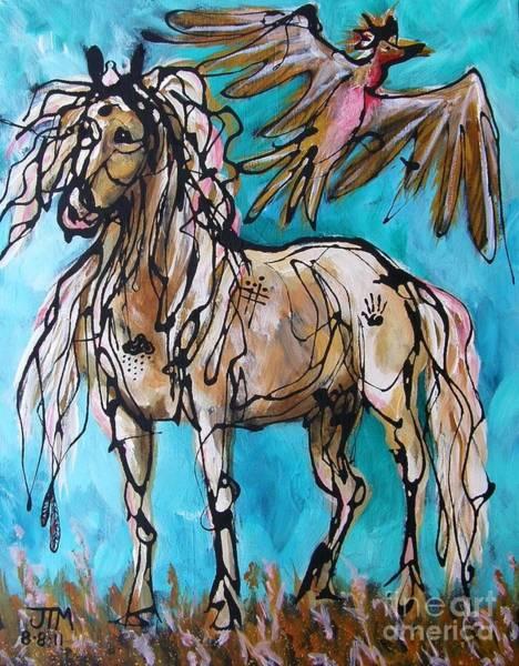 Painting - Native Rain Flyer by Jonelle T McCoy