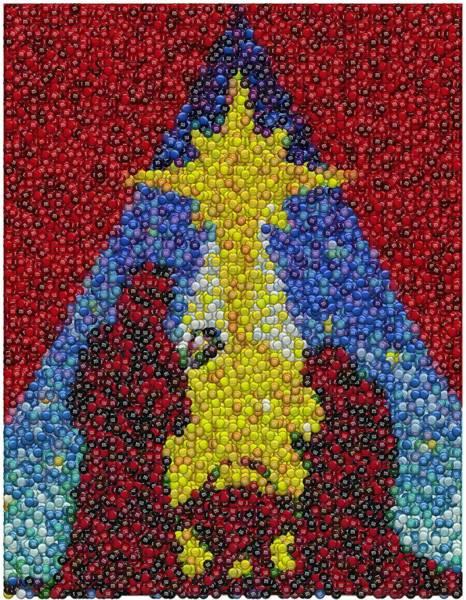 Ms Mixed Media - Nativity Mm Candy Mosaic by Paul Van Scott