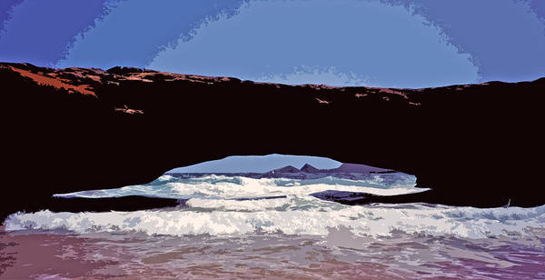 Photograph - Natural Stone Bridge - Aruba by Juergen Weiss
