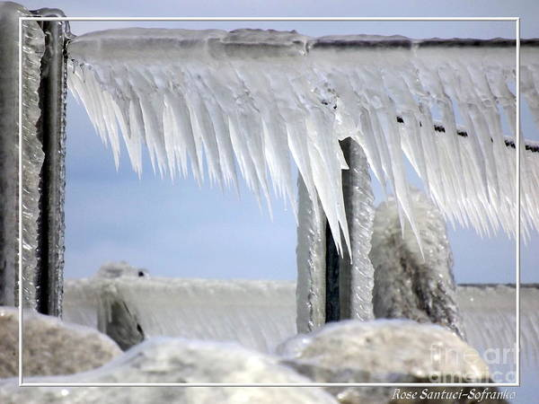 Photograph - Natures Ice Sculptures1 by Rose Santuci-Sofranko
