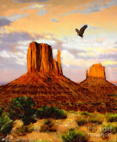 Desert Southwest Digital Art - Navajo Spirit by Jerry McElroy