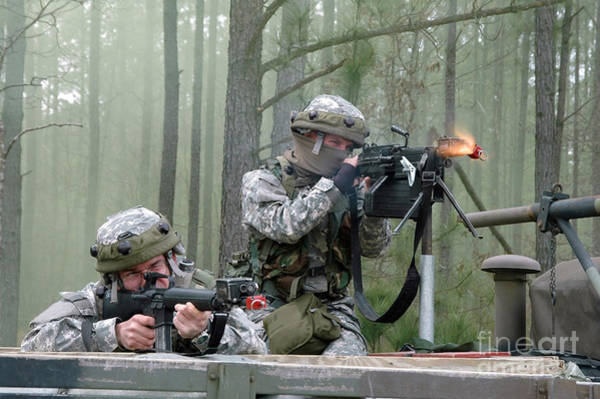 Gunfire Photograph - Naval Reservists And Active Duty by Stocktrek Images