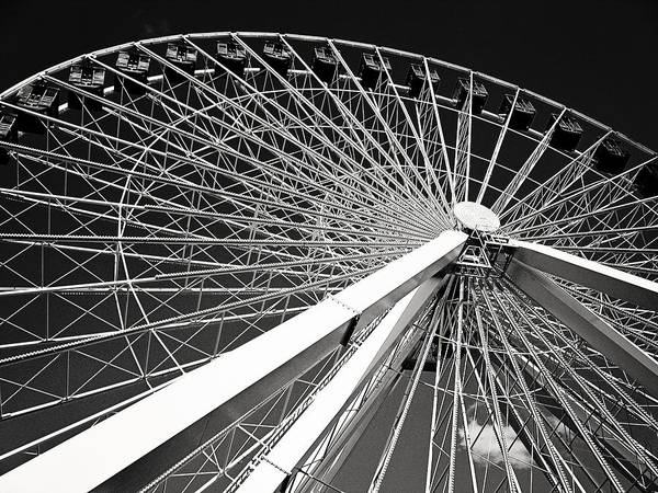 Photograph - Navy Pier Ferris Wheel by Laura Kinker