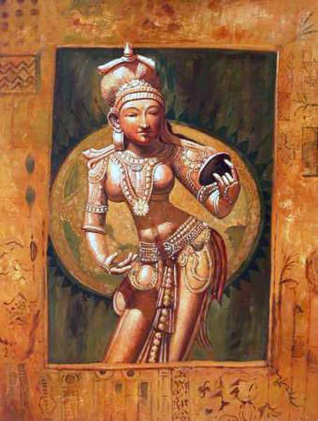 Laksmi Wall Art - Painting - Nc0409 by Streisand Art