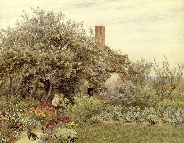 Country Scene Painting - Near Hambledon by Helen Allingham
